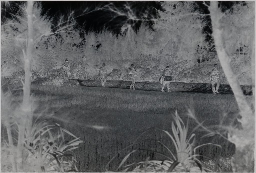 Untitled (Soldiers Walking Along Edge Of Rice Paddy, Vietnam)