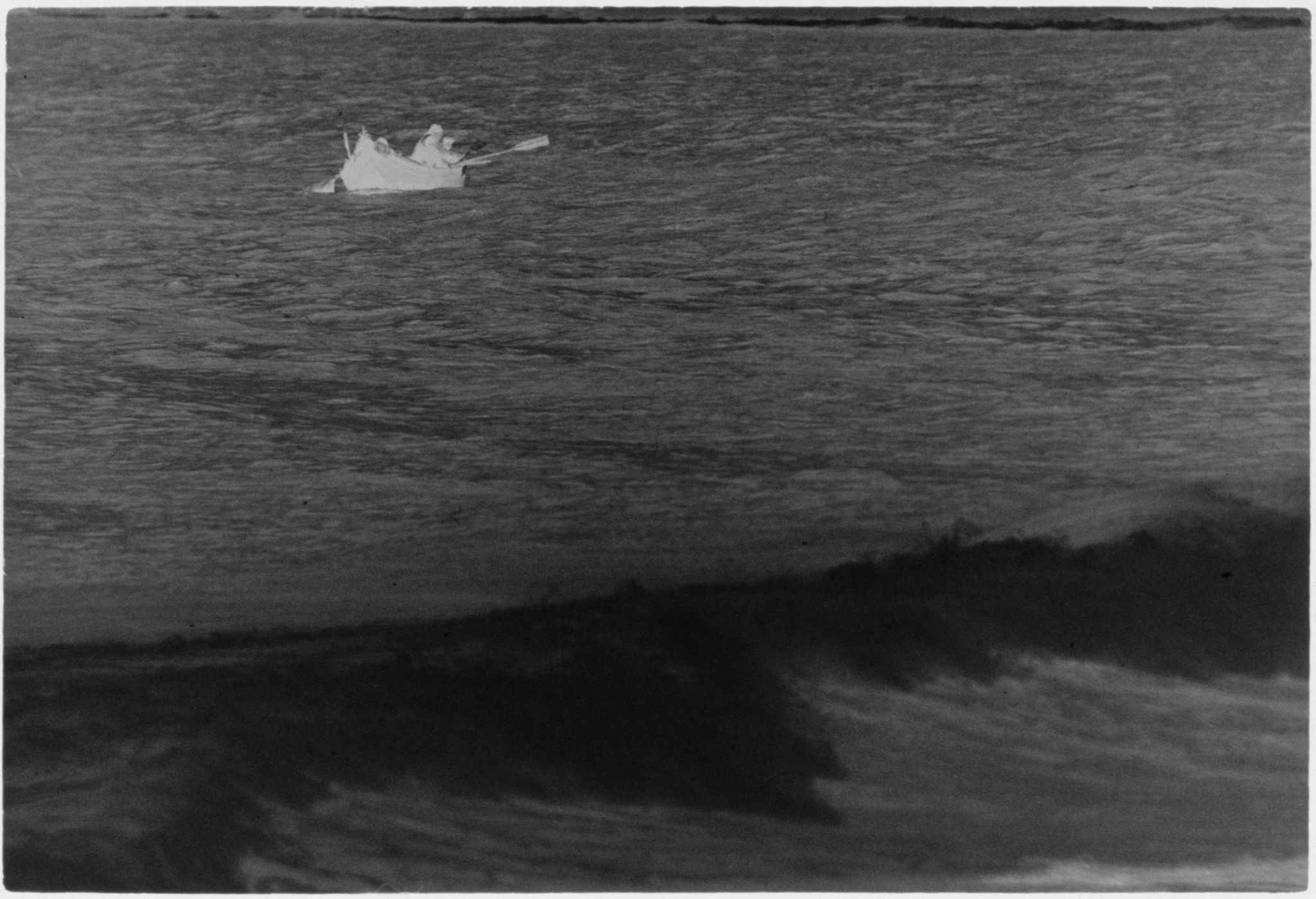Untitled (Fishermen In Boat Off The Coast, Nazaré, Portugal)
