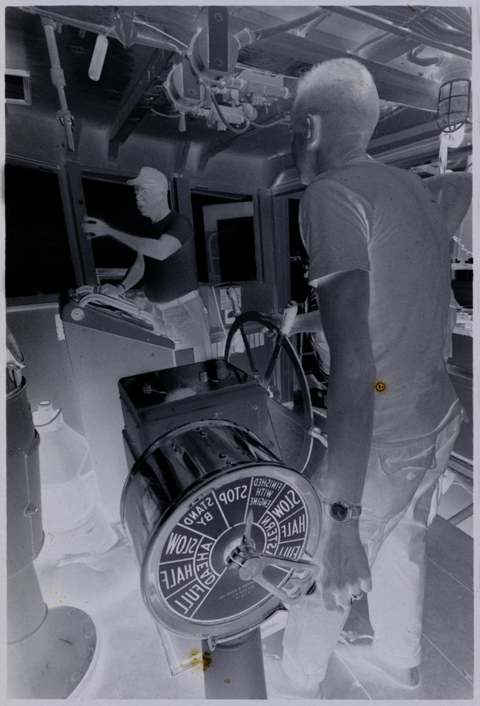 Untitled (Soldiers Inside Ship's Control Room, Vietnam)