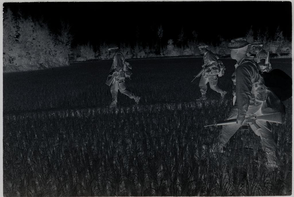 Untitled (Soldiers Walking Through Rice Paddy, Vietnam)