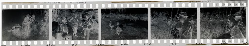 Untitled (Soldiers Walking Through Clearing; Soldiers Taking Break, Vietnam)