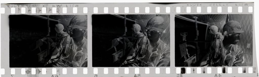 Untitled (Soldiers Riding In The Back Of Army Vehicle Or Helicopter, Vietnam)