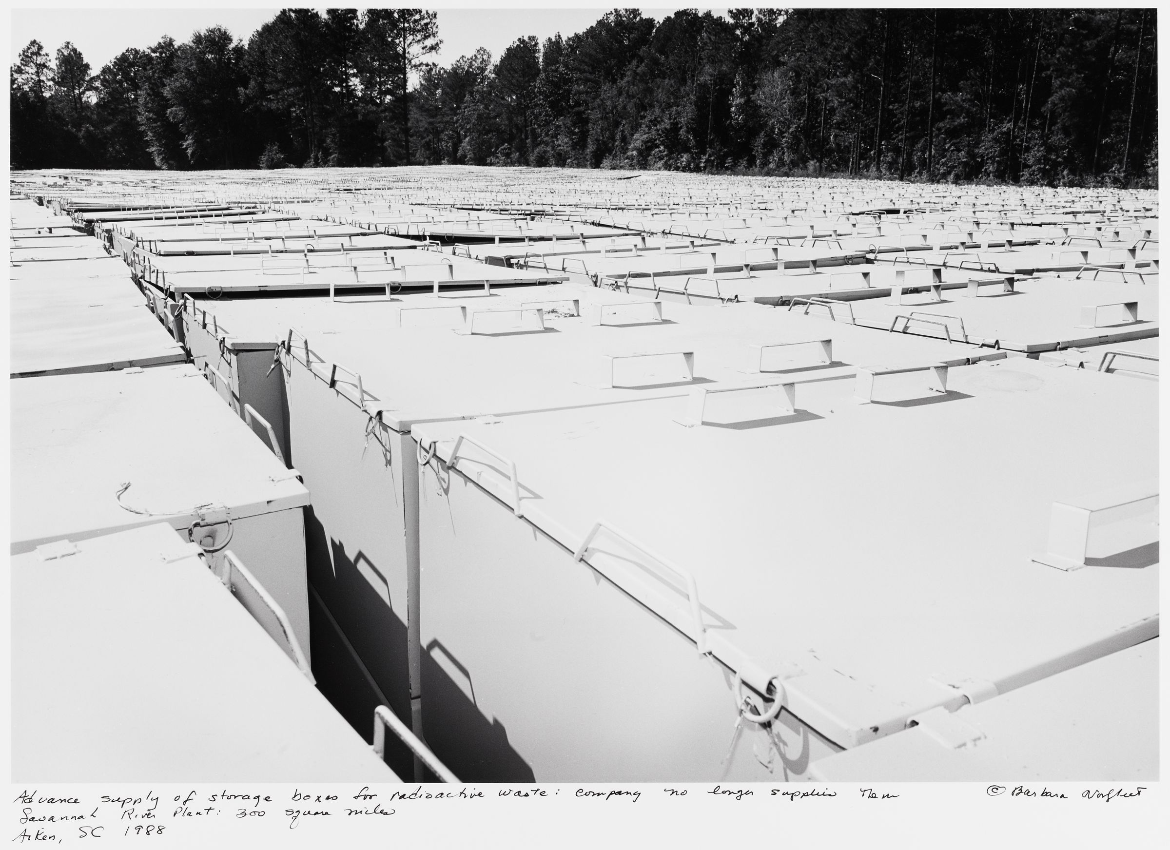 Advance Supply Of Storage Boxes For Radioactive Waste: Company No Longer Supplies Them, Savannah River Plant: 300 Square Miles, Aiken, Sc