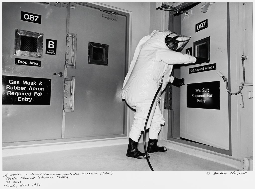 A Worker In Demilitarization Protective Ensemble (Dpe), Tooele Chemical Disposal Facility, 36 Acres, Tooele, Utah