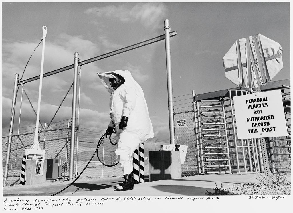 A Worker In Demilitarization Protective Ensemble (Dpe) Outside Our Chemical Disposal Facility, Tooele Chemical Disposal Facility: 36 Acres, Tooele, Ut