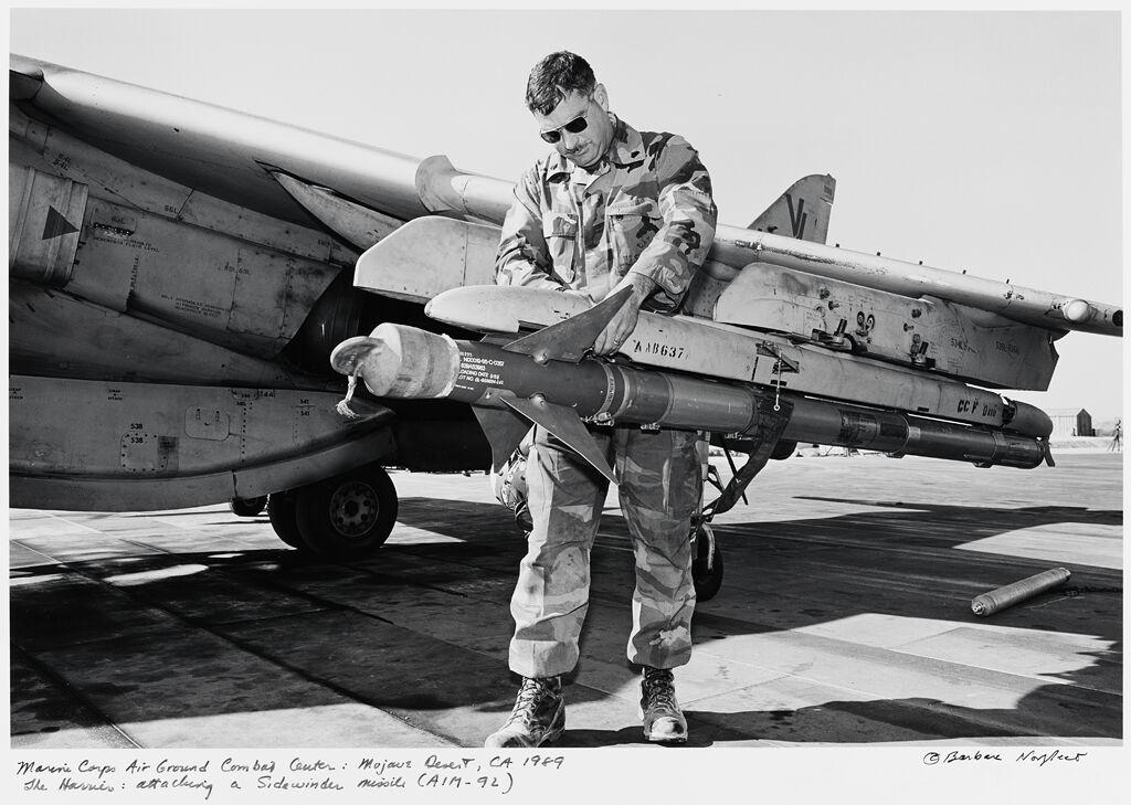 Marine Corps Air Ground Combat Center: Mojave Desert Ca, The Harrier: Attaching A Sidewinder Missile (Aim-92)