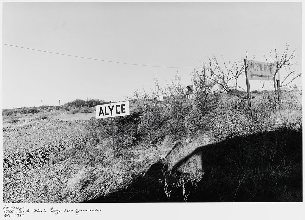 Landscape, White Sands Missile Range: 3200 Square Miles, Nm