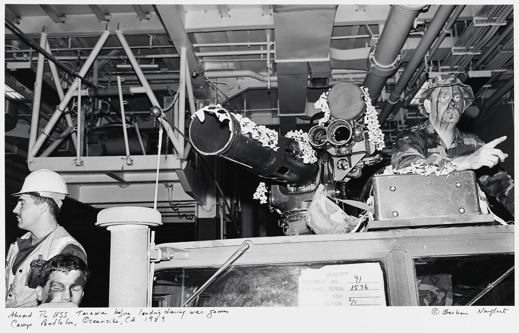 Aboard The Uss Tarawa Before Landing During War Games, Camp Pendleton, Oceanside, Ca