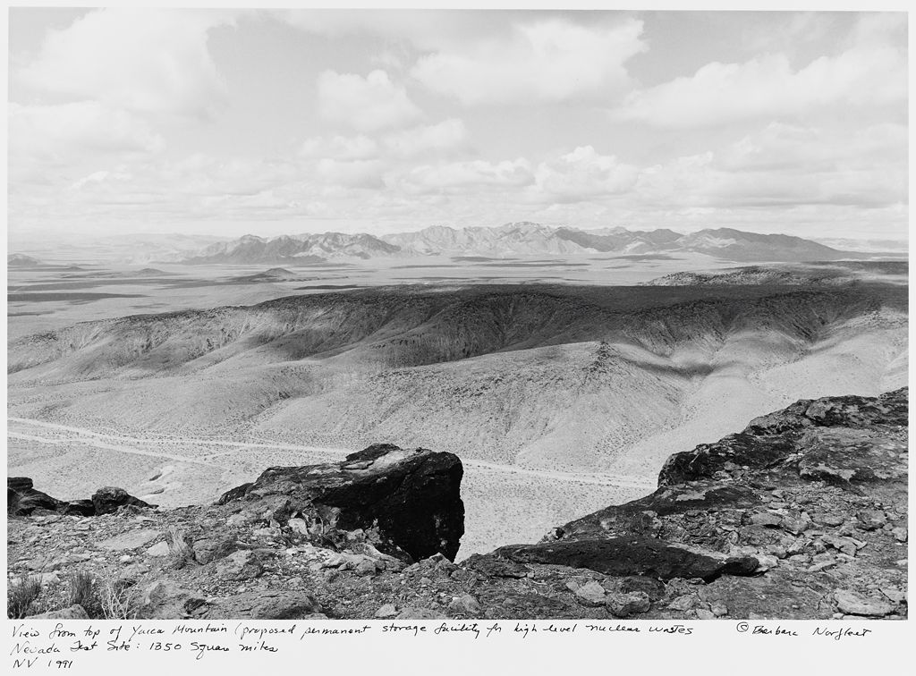 View From Top Of Yucca Mountain (Proposed Permanent Storage Facility For High Level Nuclear Wastes), Nevada Test Site: 1350 Square Miles, Nv