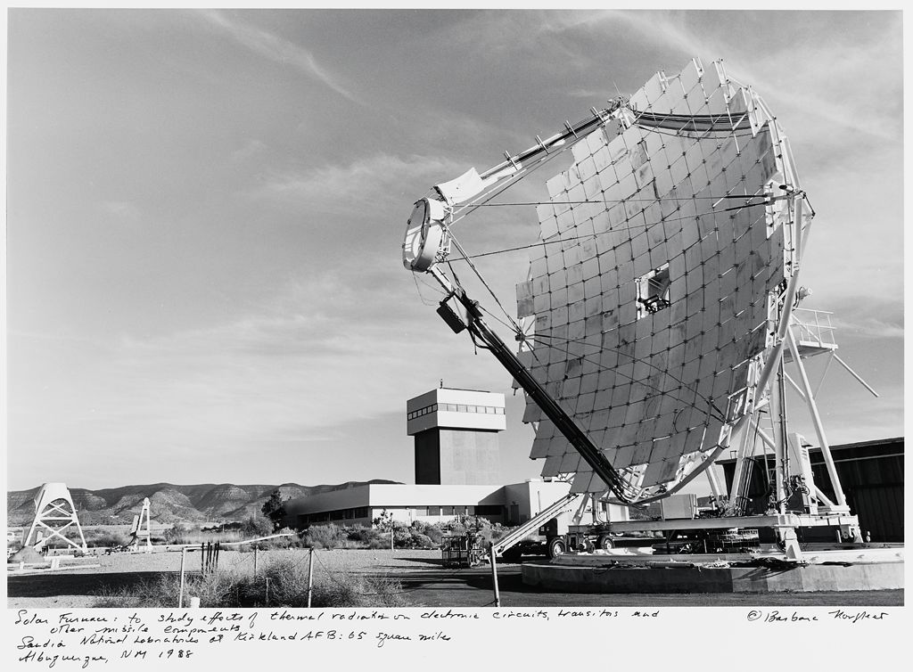 Solar Furnace: To Study Efforts Of Thermal Radiation On Electronic Circuits, Transistors And Other Missile Components, Sandia National Laboratories At Kirtland Afb: 65 Square Miles, Albuquerque, Nm
