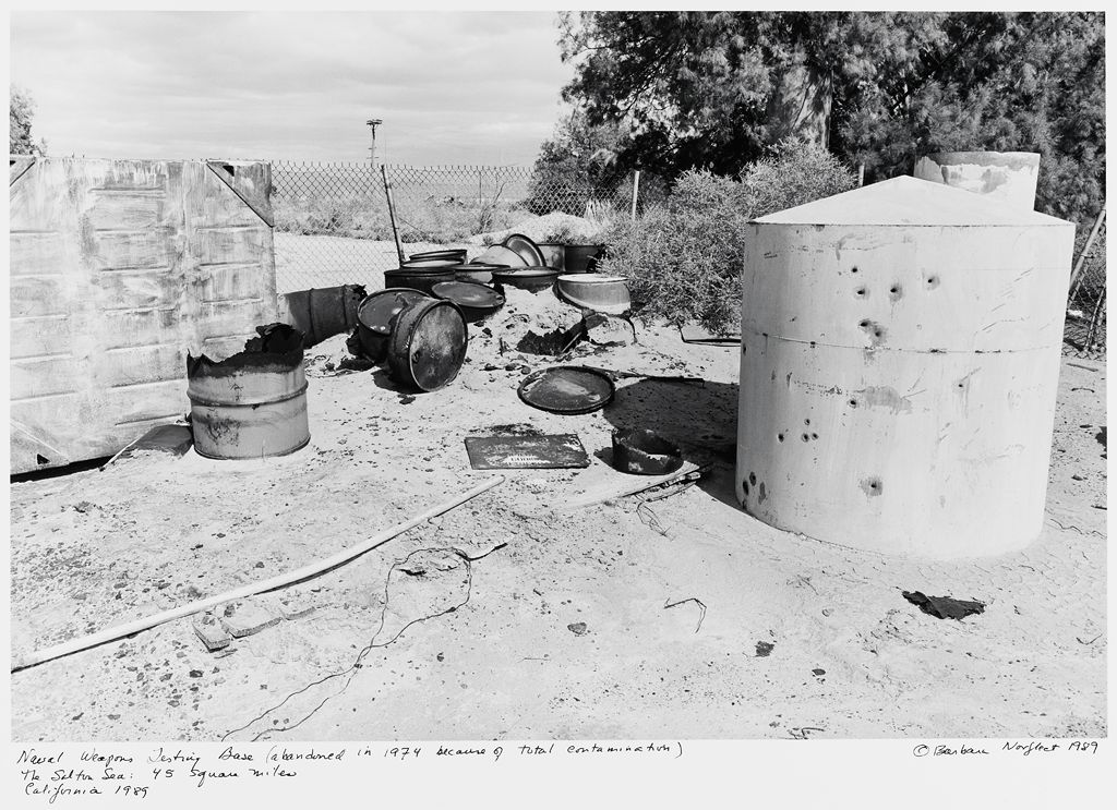 Naval Weapons Testing Base (Abandoned In 1974 Because Of Total Contamination) The Salton Sea: 45 Square Miles, California