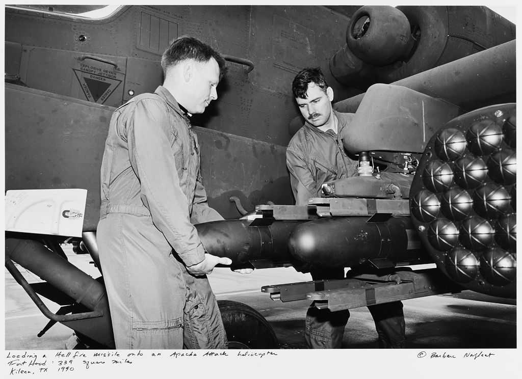 Loading A Hellfire Missile Onto An Apache Attack Helicopter, Fort Hood: 339 Square Miles, Killeen, Tx