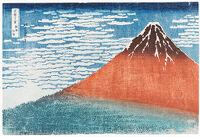 Mount Fuji Viewed During A Fine Wind On A Clear Morning (Gaifū Kaisei), From The Series Thirty-Six Views Of Mount Fuji (Fugaku Sanjūrokkei)