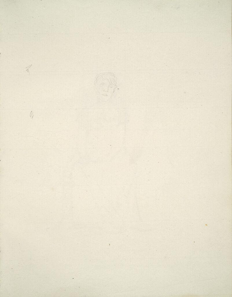 Faint Sketch Of A Woman's Head