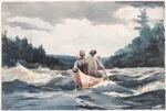 Winslow Homer Canoe In The Rapids