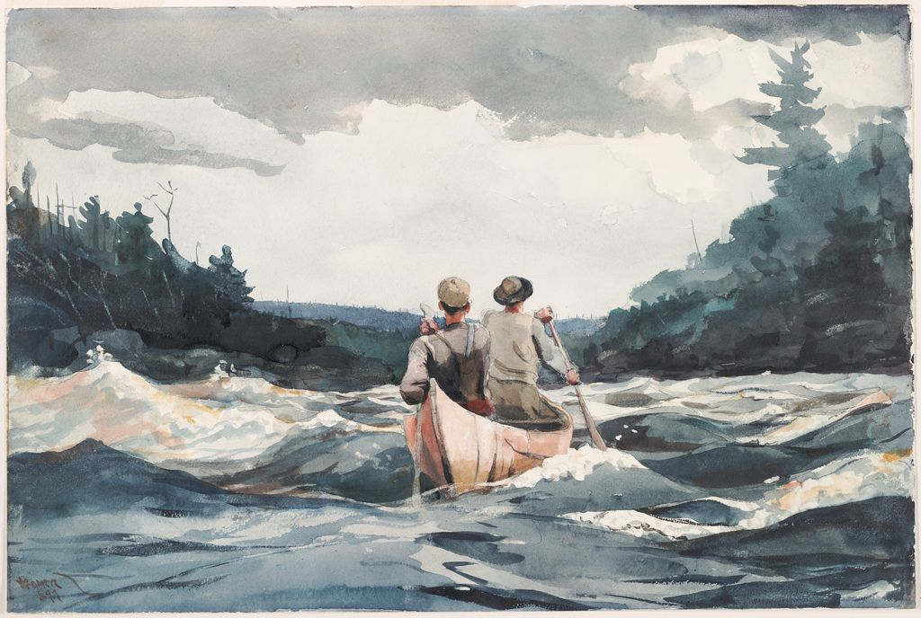 From The Harvard Art Museums Collections Canoe In Rapids