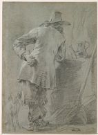 Standing Man Seen from Behind