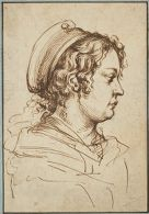 Head of a Young Woman in Profile