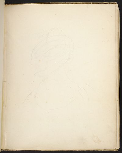 Woman With A Hat; Verso: Blank