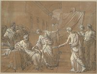 The Arts Inviting Apelles To Retake His Brushes