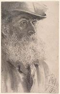 Head of a Bearded Man Facing Right