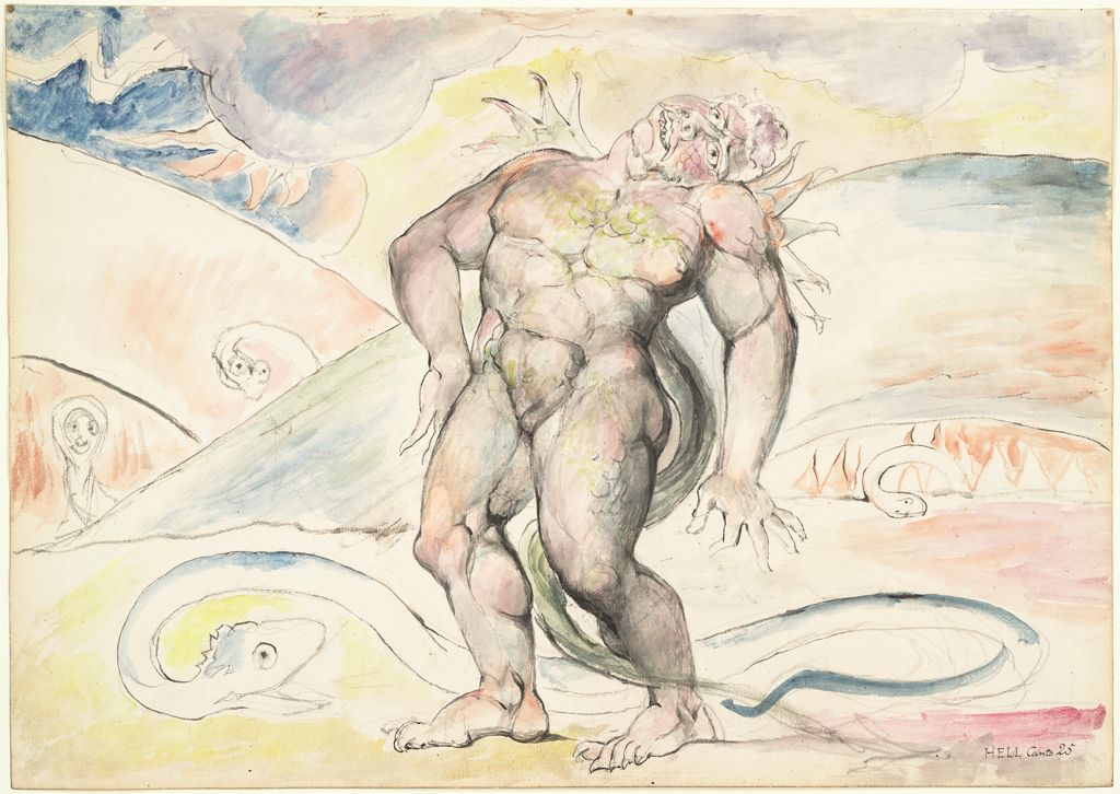 Agnello De Brunelleschi Of Florence Being Transformed Into A Serpent (From Dante's