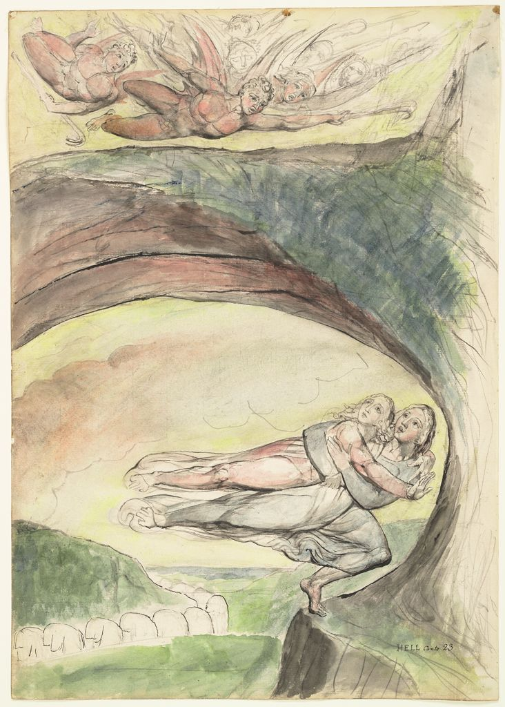 Dante And Virgil Escaping From The Devils (From Dante's
