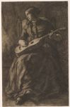 Young Woman with a Guitar, Reverie