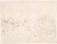 Study For The Start Of The Race Of The Barberi Horses