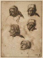 Five Studies Of The Head Of A Woman