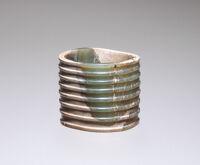 Fluted Jade Ring
