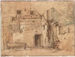 A Dilapidated Farmhouse; verso: Walls of a Farmhouse