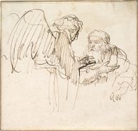 Zacharias (?) and the Angel