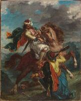 A Turk Surrenders To A Greek Horseman
