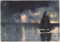 Sailboat And Fourth Of July Fireworks