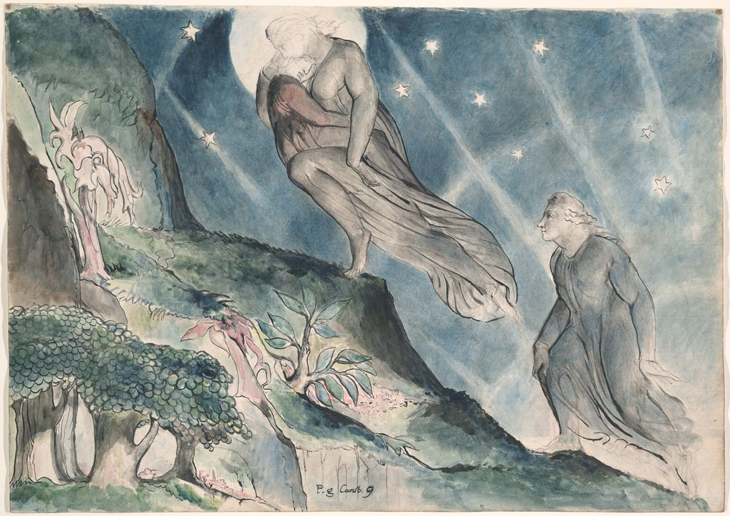 The drawings for Dantes Divine Comedy William Blake