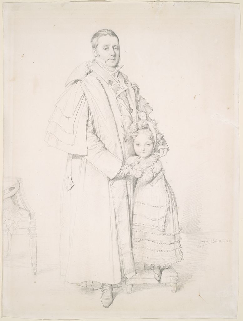 Portrait Of Augustin Jordan And His Daughter Adrienne