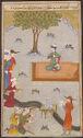 Timur Celebrates His Conquest Of Delhi (Painting, Verso; Text, Recto), Illustrated Folio From The Zafarnama (Book Of Victory) Of Sharaf Al-Din 'ali Yazdi