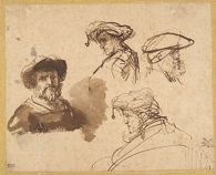 Four Studies of Male Heads