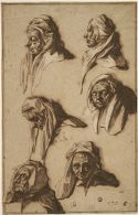Six Studies of an Old Woman's Head