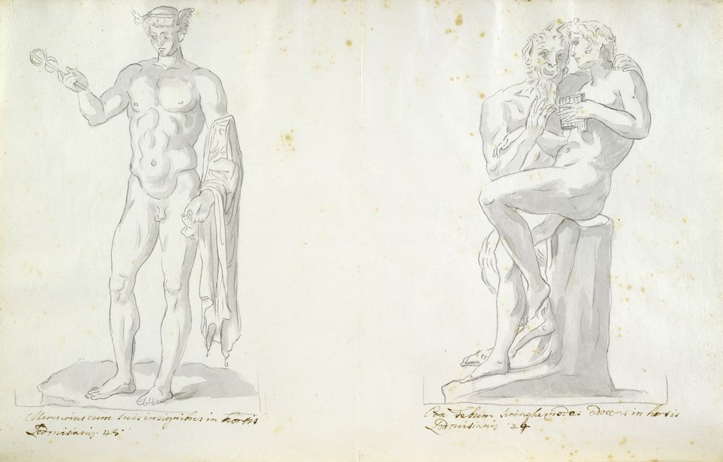Ludovisi Mercury And Ludovisi Pan And Syrinx