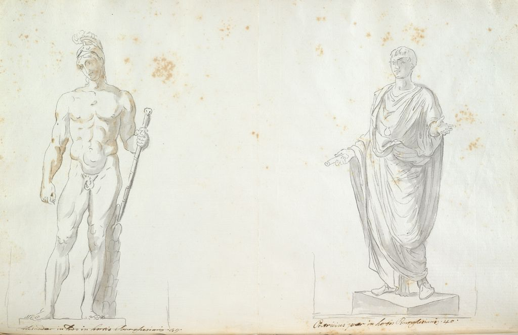 Borghese Mars And Borghese Young Roman Patrician