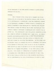 Letter from Joseph Willard to his parishioners, 1781 November 19, [typewritten transcript, October 1909] Digital Object
