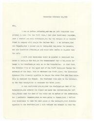 Letter from Joseph Willard to John Hancock, 1785 February 19 [typewritten transcription, October 1909] Digital Object