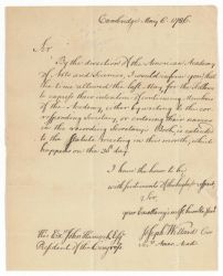 Letter from Joseph Willard to John Hancock, 1786 May 6 Digital Object