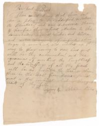 Letter from William Scales to Joseph Willard, [1785?] Digital Object