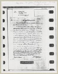 Letter from Thomas Jefferson to Joseph Willard, 1791 May 20, [twentieth-century photocopy] Digital Object