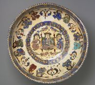 Bowl with Enthroned Ruler and Courtiers