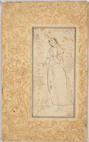 Young Woman As Cup Bearer, Folio From An Album