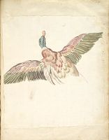 Duck With Wings Extended, Seen From Behind; Verso: Blank